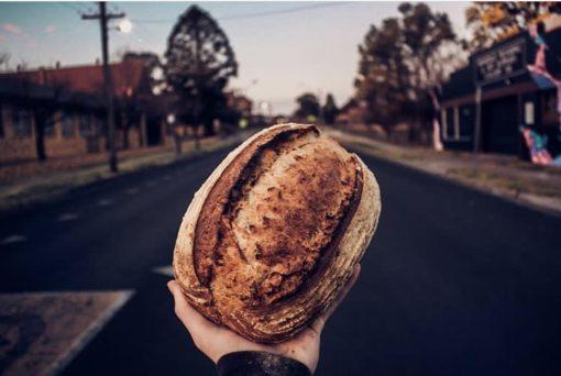 organic local rye bread
