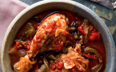 Chicken and Capsicum Casserole with Olives