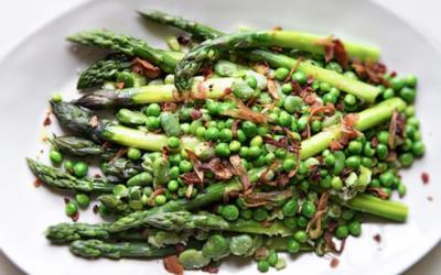 Asparagus, Pea and Fava Bean Salad