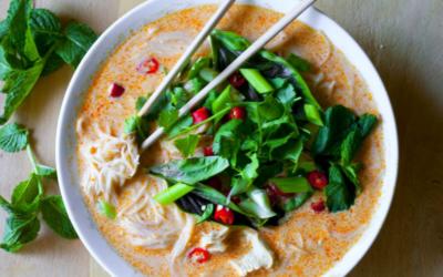 Thai Bok Choy and Vermicelli Noodle Soup