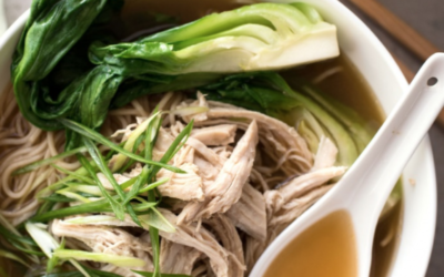 Asian Greens and Chicken Vermicelli Noodles
