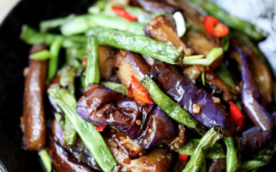 Eggplant and String Bean Stir-fry