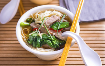 Beef, Noodle and Choy Sum Soup