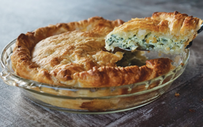 Spinach, Cabbage and Ricotta Pie