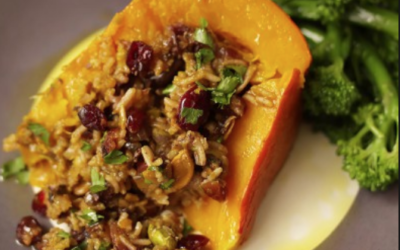 Baked and Stuffed Butternut Pumpkin