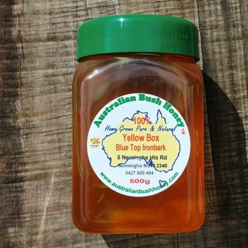 yellow box blue tip ironbark raw local honey