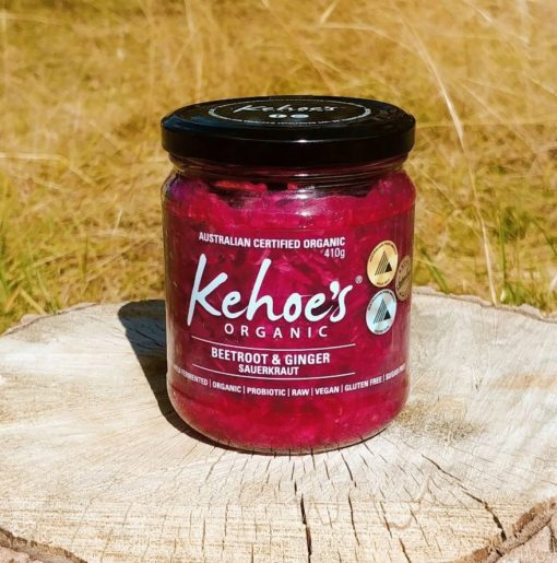 kehoes organic beetroot and ginger sauerkraut