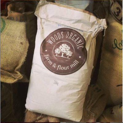woods organic flour bag
