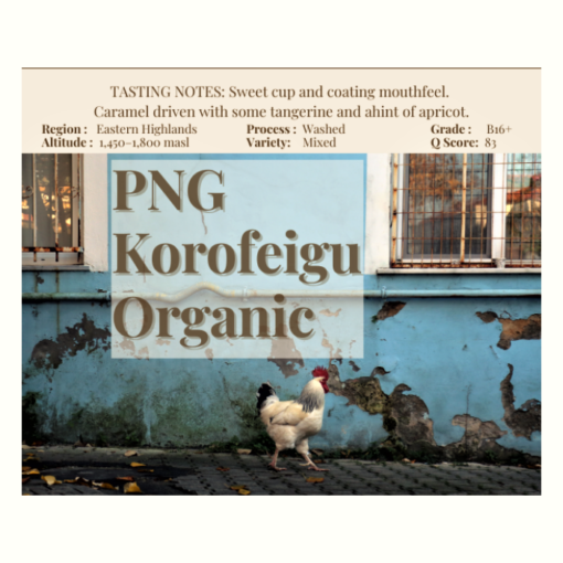 PNG Korofeigu organic fairtrade coffee